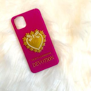 ドルチェアンドガッバーナ(DOLCE&GABBANA)の【新品・未使用】ドルチェ&ガッバーナ iPhone 11 promaxケース 紫(iPhoneケース)