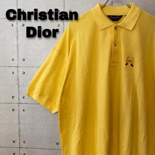 Christian Dior - 90s Christian Dior ワンポイント刺繡 ポロシャツ 希少カラー