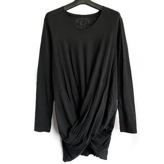 ロエン(Roen)のRoen(ロエン)バックスカルプリント入りドレープ加工カットソー Tシャツ(Tシャツ/カットソー(七分/長袖))