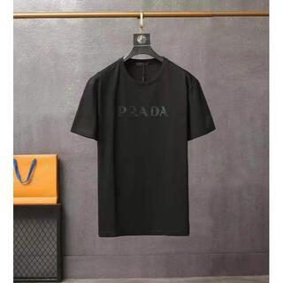 ✫✫人気新作/プラダ PRADA Tシャツ、黒✫✫