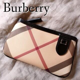 BURBERRY - バーバリー Burberry ノバチェック ポーチ 小物入れ pvcレザー