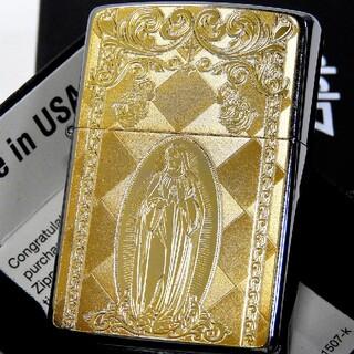 ジッポー(ZIPPO)の(送料込み)ZIPPO◇聖母マリア◇ゴールドプレート◇新品◇ジッポ(タバコグッズ)