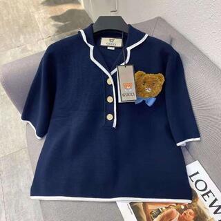 グッチ(Gucci)の限定コラボ【GUCCI×EXO KAI】シルク コットン ポロシャツ(ニット/セーター)