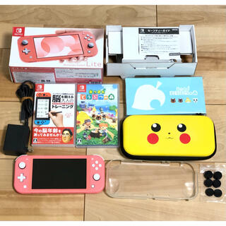 Nintendo Switch - Nintendo Switch lite あつ森 脳トレほかセット売り