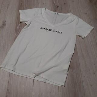 GYDA - ジェイダ GYDA VネックTシャツ Tシャツ 美品 ホワイト