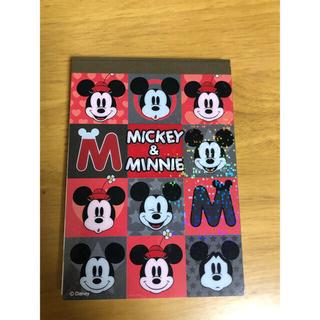 ディズニー(Disney)のミッキー ミニー メモ帳(ノート/メモ帳/ふせん)