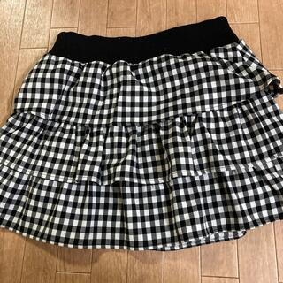 オゾック(OZOC)のフリル スカート サイズM(ミニスカート)