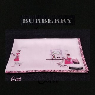 BURBERRY - BURBERRYハンカチ☕アフタヌーンティー