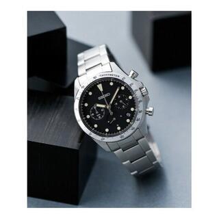 セイコー(SEIKO)の別注セイコー ナノ・ユニバース クオーツクロノグラフブラック(腕時計(アナログ))