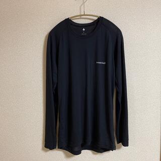 mont bell - モンベル スーパーメリノウールLWラウンドネックシャツ メンズ Lサイズ 黒