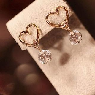 jouetie - 𓏸𓂂𓈒🤍 Gold Heart Pierce 🤍𓈒𓂂𓏸
