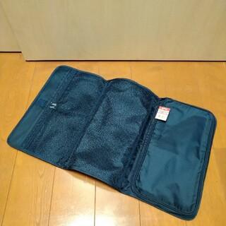 ムジルシリョウヒン(MUJI (無印良品))の無印良品ナイロンパラシュートクロス三つ折りケースネイビー(トラベルバッグ/スーツケース)