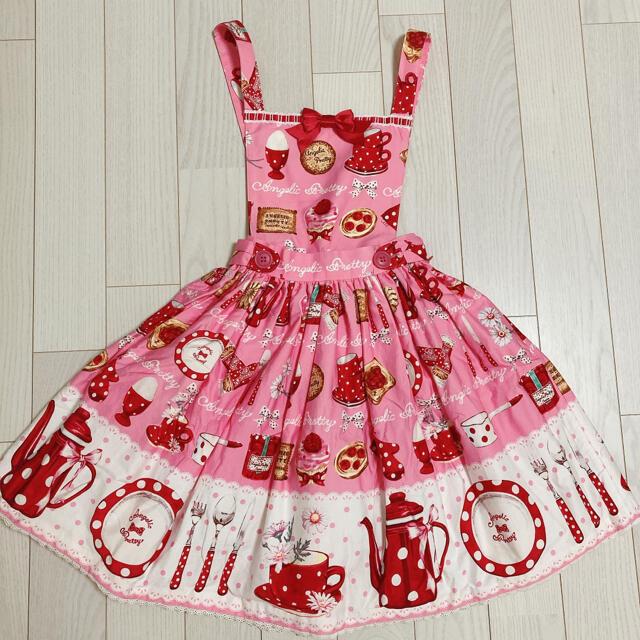 Angelic Pretty(アンジェリックプリティー)のAngelic Pretty French Cafe スカート jsk リング レディースのスカート(ひざ丈スカート)の商品写真