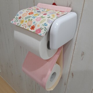 トイレットペーパーホルダーカバー(トイレ収納)