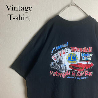 ギルタン(GILDAN)のUS 古着 企業 イベント ロゴ オーバーサイズ 半袖 Tシャツ 2XL コーデ(Tシャツ/カットソー(半袖/袖なし))