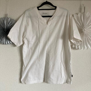 エディーバウアー(Eddie Bauer)のエディバウアー ホワイト Tシャツ メンズ M(Tシャツ/カットソー(半袖/袖なし))