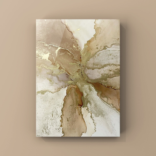 アルコールインクアート インテリアアート アートポスター《beige》(アート/写真)