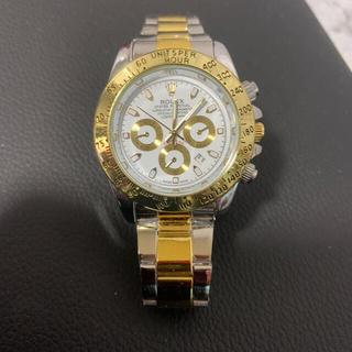 ノベルティー腕時計 シルバー&ホワイトゴールド