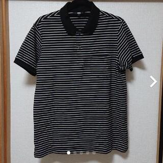 UNIQLO - ユニクロ ボーダーポロシャツ #XL