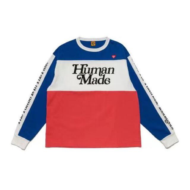 GDC(ジーディーシー)のhuman made girl's don't cry BMX SHIRT L メンズのトップス(Tシャツ/カットソー(七分/長袖))の商品写真