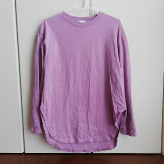 ジーユー(GU)のGU ラウンドヘムロングスリーブT  Sサイズ(Tシャツ(長袖/七分))
