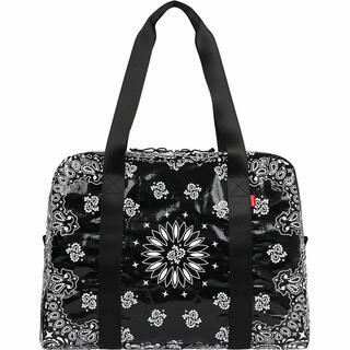 Supreme - Bandana Tarp small Duffle Bag black ブラック