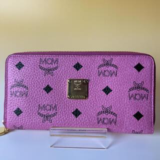 MCM - MCM 未使用 ピンク 長財布 ラウンドファスナー モノグラム