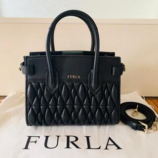 Furla - 美品 FURLA フルラ PIN COMETA MINI ピン コメタ  黒
