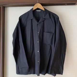 COMOLI - auralee オーラリー オープンカラーシャツ