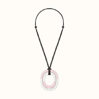 エルメス(Hermes)のエルメス ネックレス イスムPM カラーブロック バッファローホーン 極美品(ネックレス)