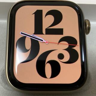 Apple Watch - 【極美品】アップルウォッチ6 セルラー ゴールドステンレス 44mm