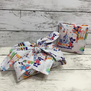 ディズニー紙袋柄リバーシブルお弁当包み ハンカチサニタリーマスクケース セット