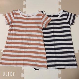 MUJI (無印良品) - 無印 チュニックTシャツ 2枚セット 110cm 美品