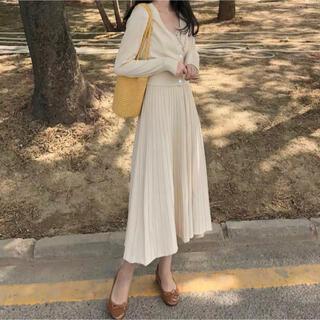 dholic - 春レディース 韓国ファッション カーディガン ニットワンピース トップス
