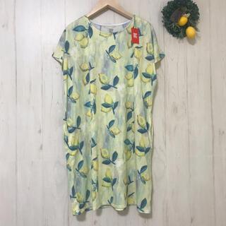 Design Tshirts Store graniph - ⭐︎新品⭐︎レモン柄Tシャツワンピース デザインティーシャツ フルーツ柄春夏