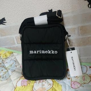 marimekko - マリメッコ marimekko 新品 ロゴ ショルダーバッグ ブラック