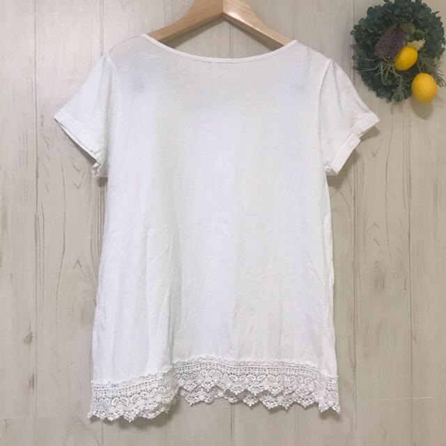 SM2(サマンサモスモス)のSM2刺繍レース綿ブラウス サマンサモスモス春夏半袖 ナチュラルホワイト白 レディースのトップス(シャツ/ブラウス(半袖/袖なし))の商品写真