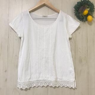 SM2 - SM2刺繍レース綿ブラウス サマンサモスモス春夏半袖 ナチュラルホワイト白