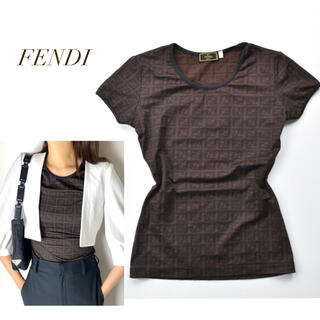 FENDI - FENDI ヴィンテージ フェンディ ストレッチ ズッカ ロゴ Tシャツ