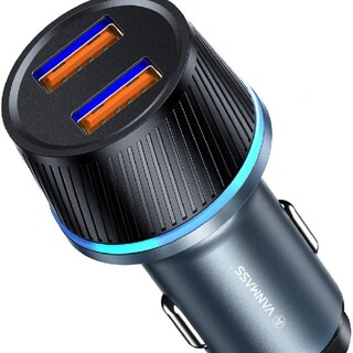 QC3.0*2ポート/36W急速充電令和最新版カーチャージャー シガーソケット