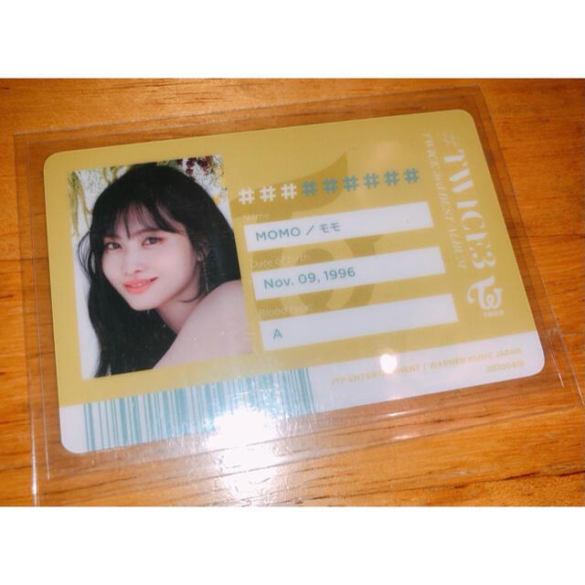 TWICE3 モモ IDカード エンタメ/ホビーのタレントグッズ(アイドルグッズ)の商品写真