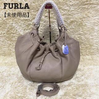 Furla - 【未使用】FURLA ショルダーバッグ 2way ドット シルバー金具 巾着