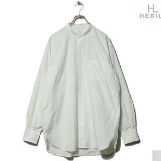 【新品】HERILL ヘリル シャツ スビンコットン スタンドカラーシャツ