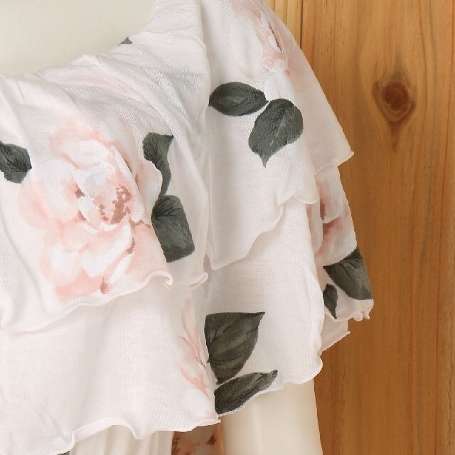 gelato pique(ジェラートピケ)の新品未使用❤︎gelato pique 大花柄オフショルドレス(ピンク) レディースのルームウェア/パジャマ(ルームウェア)の商品写真
