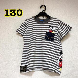 Disney - ディズニーミッキーマウス Tシャツ ボーダー 130