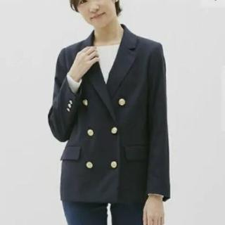 ジーユー(GU)の新品未使用 GU ネイビーダブルブレストジャケット ブレザー M(テーラードジャケット)
