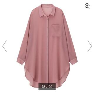 GU - 新品★GU シアーロングシャツ