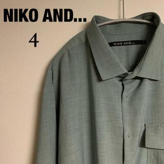 ニコアンド(niko and...)の【美品】NIKO AND ... ニコアンド オーバーシルエット シャツ(シャツ)