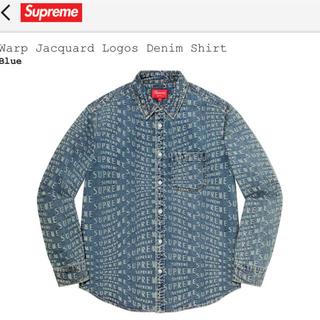 Supreme - シュプリーム Warp Jacquard Logos Denim Shirt