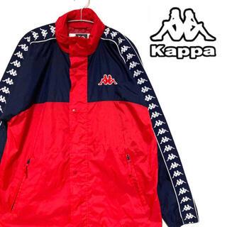 カッパ(Kappa)の【超美品】kappa ナイロンジャケット カッパ 刺繍ロゴ 肩ロゴ ビッグロゴ(ナイロンジャケット)